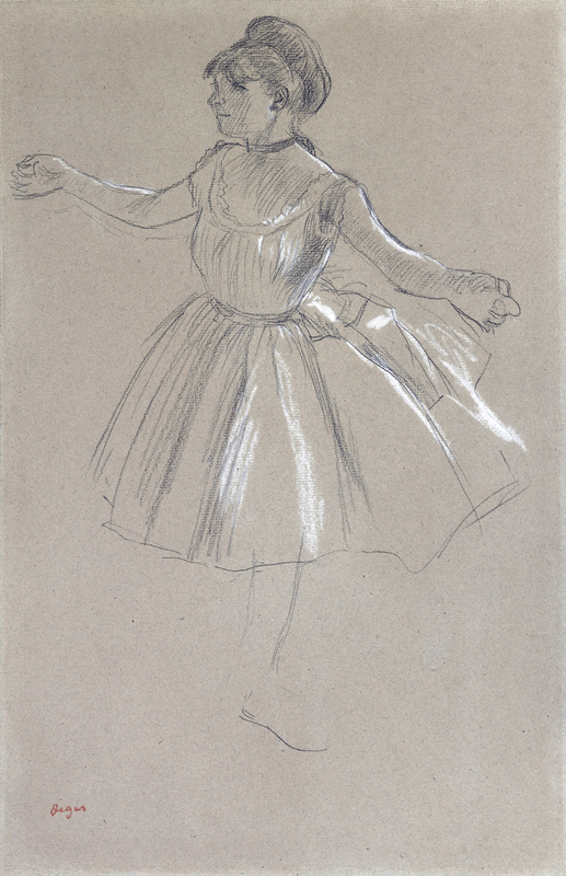 Edgar DEGAS - Drawing-Watercolor - Dancer - Melina Darde