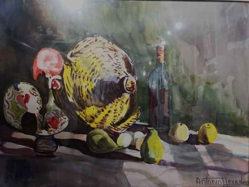 Antonio HEREDERO GUZMAN - Dibujo Acuarela - Bodegón