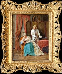 Ignacio DE LÉON Y ESCOSURA - Painting - The Letter