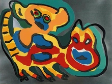Karel APPEL - Grabado - Come back pussycat