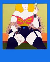 Jean Christian GUY - Painting - Wonder Woman des FastFood