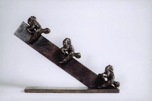 Christian LIGNAIS - Skulptur Volumen - Mouvement continu sur surface lisse