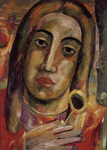 Hugo SCHEIBER - Painting - Portrait of a Woman