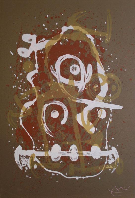 Joan MIRO - Stampa Multiplo - Chevauchée - brun