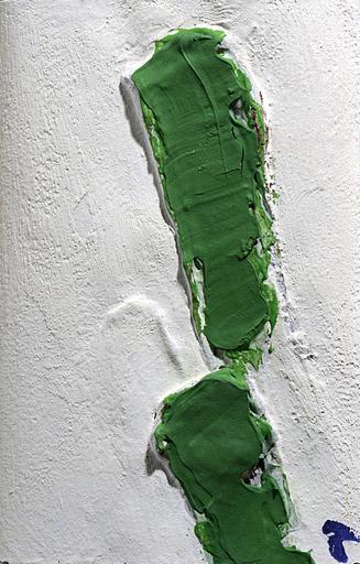 Angel ALONSO - Gemälde - Deux sillons verts