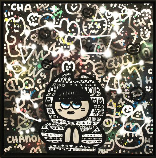 CHANOIR - Painting - Chas Connectés Aux Etoiles