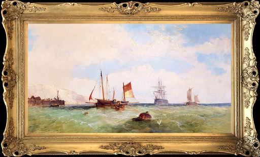 James Edwin MEADOWS - Pintura - Unloading the Catch