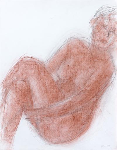 Claude GARACHE - Drawing-Watercolor - Pose Ferretine