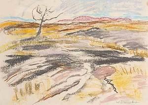 Willy EISENSCHITZ - Dibujo Acuarela - Afrikanische Landschaft