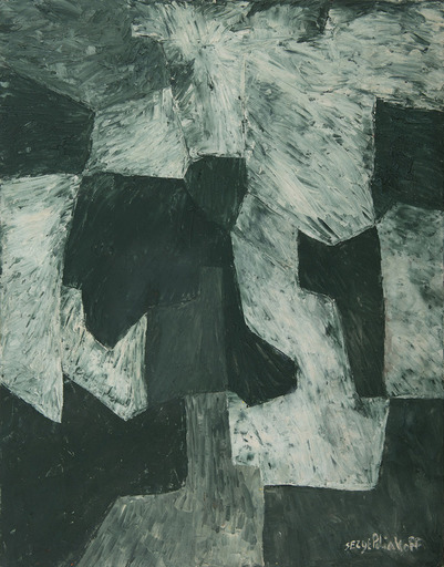 Serge POLIAKOFF - Pittura - Composition abstraite - Composition en vert