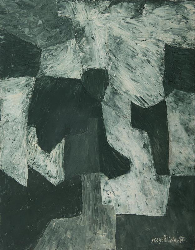 Serge POLIAKOFF - Peinture - Composition abstraite - Composition en vert