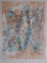 Camille BRYEN - Grabado - GRAVURE ABSTRAITE DE 1974, SIGNÉE AU CRAYON