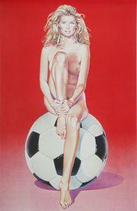 Mel RAMOS - Grabado - Fussball Fannie