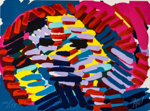 Karel APPEL - Estampe-Multiple - Once I Was The Sun