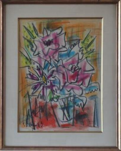 GEN PAUL - Drawing-Watercolor - The Bouquet