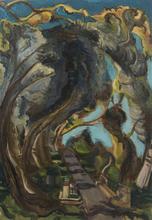 Vladimir Davidovic BARANOV-ROSSINÉ - Painting - Le Pont Ares