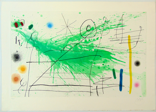 Joan MIRO - Estampe-Multiple - Composition III, from: A Trip to the Country