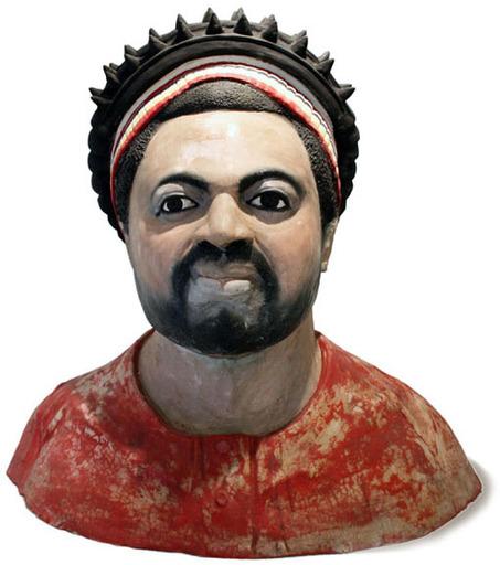 Sunday Jack AKPAN - Escultura - Büste eines Häuptlings/Chiefs Bust