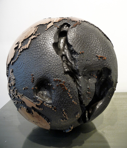 Bruno HELGEN - Sculpture-Volume - Globe graphite