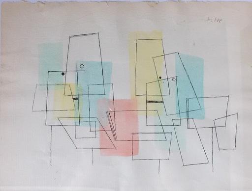 Paul KLEE - Drawing-Watercolor - Liebestreffen