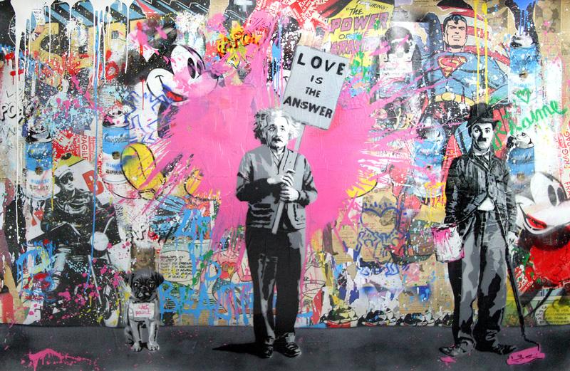 Mr brainwash juxtapose artwork on the marketplace for Mural by mr brainwash