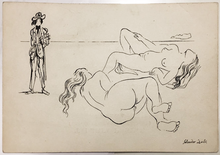 Salvador DALI - Dessin-Aquarelle - Carte Postale, 1925