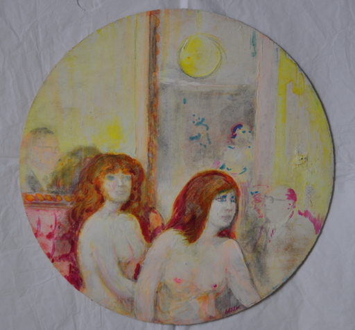 Aligi SASSU - Painting - Le due Bionde