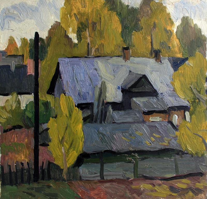 Valeriy NESTEROV - Painting - Rzhevka district. Leningrad