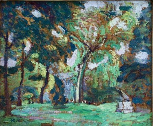 Henri Edmond CROSS - Peinture - Le Parc Monceau