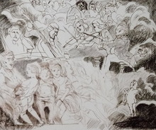 Alfred HRDLICKA - Print-Multiple - Himmel auf Erden - Franz Schubert