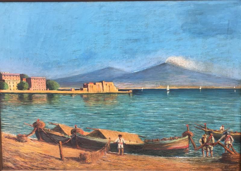 Luca ALBINO - Pintura - Paisaje Napolitano