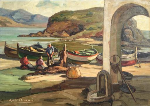 Louis ADAMI - Peinture - Marine