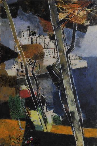 Xaver FUHR - Painting - Pinien und Halbinsel