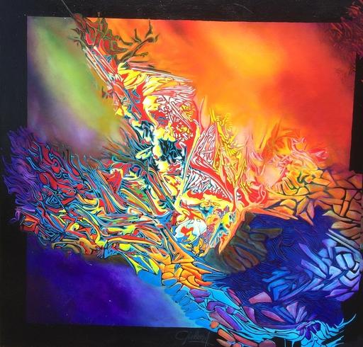 André BIELEN - Peinture - Papillon des étoiles