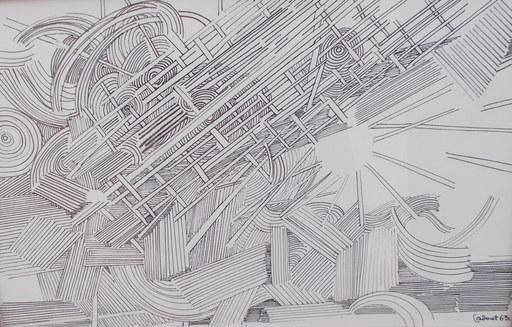 Michel CADORET - Drawing-Watercolor - Abstrait