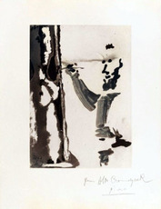 巴勃罗•毕加索 - 版画 - Peintre au travail