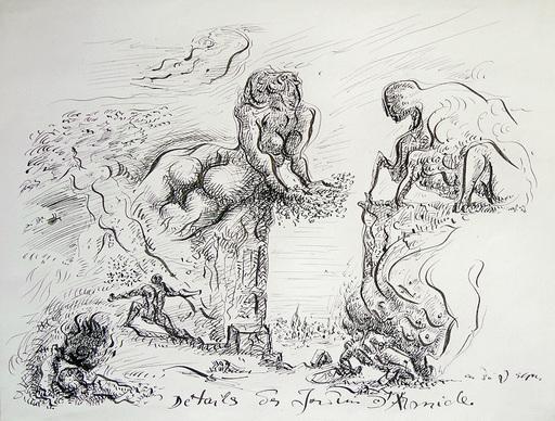 安德烈•马松 - 水彩作品 - Détails des jardins d'Armide