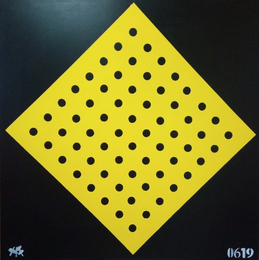 Harry BARTLETT FENNEY - Painting - perforated yellow