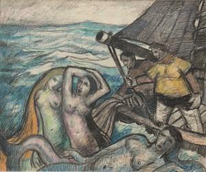 "Raymond DIERICKX - Drawing-Watercolor - ""LA PÊCHE MIRACULEUSE"""