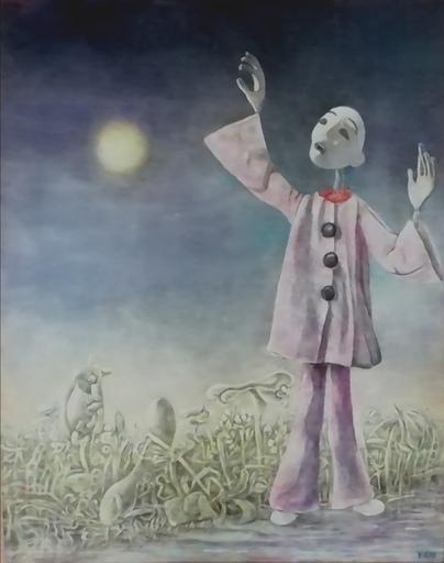 Erich GARGERLE - Gemälde - Pierrot Lunaire 2. versione