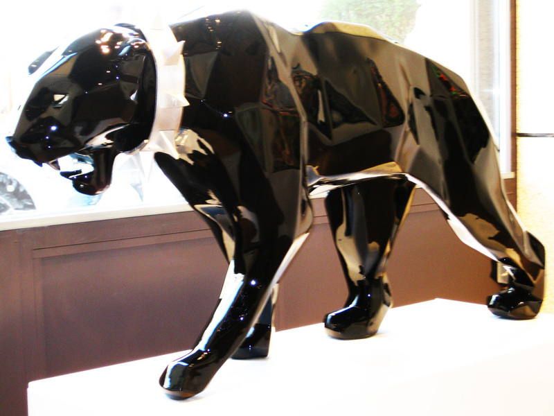 Richard ORLINSKI - Sculpture-Volume - Wild neck panther black
