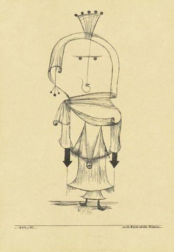 保罗•克利 - 版画 - Die Hexe mit dem Kamm