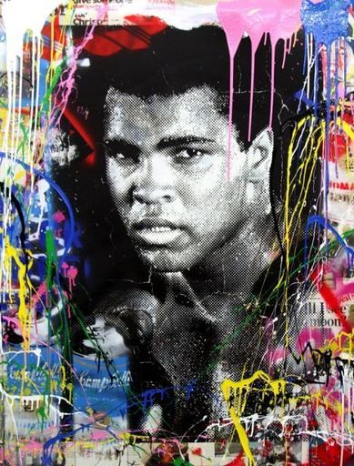 MR BRAINWASH - Peinture - Magnificient Ali