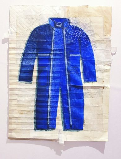 Marie LHOMET - Drawing-Watercolor - « Bleu de travail »