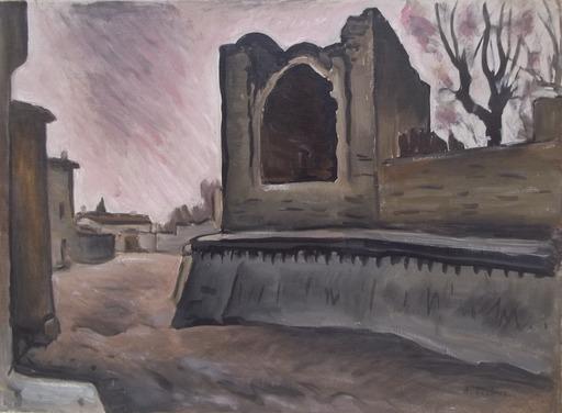 Alfred LESBROS - Peinture - porte st dominique avignon
