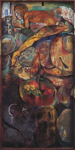 Giannetto FIESCHI - Painting - Enzo coi frutti