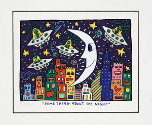 James RIZZI - Grabado - Something about the Night