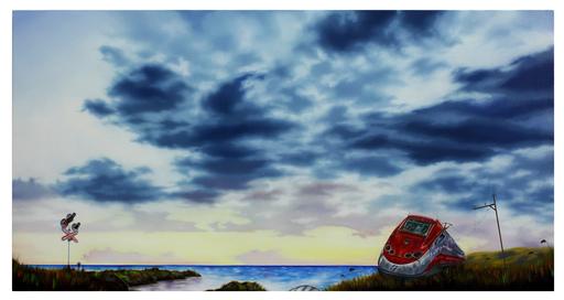 Carlo Alberto RASTELLI - Painting - Ci scusiamo per il disagio #2