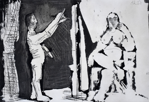 Pablo PICASSO - Stampa Multiplo - The Painter and his Model | Le peintre et son modèle, 1964