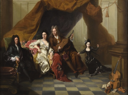 Jacques VAN SCHUPPEN - Painting - Portrait d'une famille